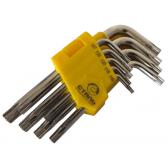 Сталь 48106 Набор Г-образных ключей удлиненных TORX (9 шт)
